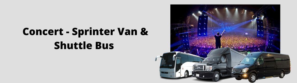 nyc concert sprinter shuttle bus rental