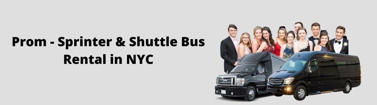 Prom Service Sprinter Van Rental in NY